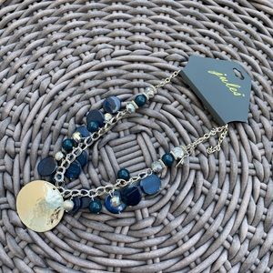 Blue & Silver Statement Necklace